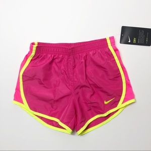 NWT Nike lined pink shorts